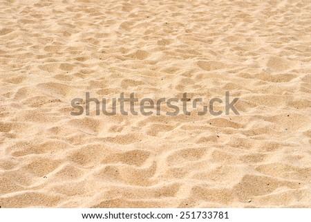 beautiful sand beach - stock photo