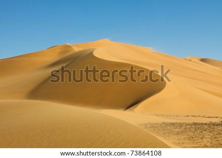 Beautiful Sand Dune at Erg Tamesset, Sahara Desert, Libya - stock photo