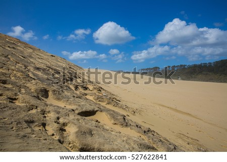 Beautiful sand dunes in New Zealand