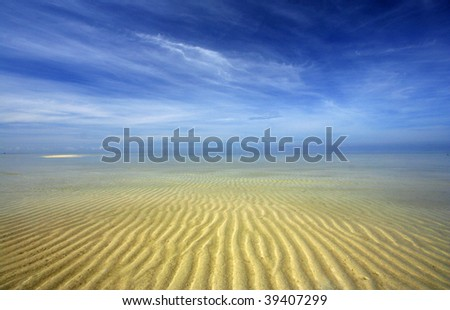 Beautiful sand pattern