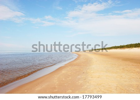 Beautiful sandy beach (Latvia)