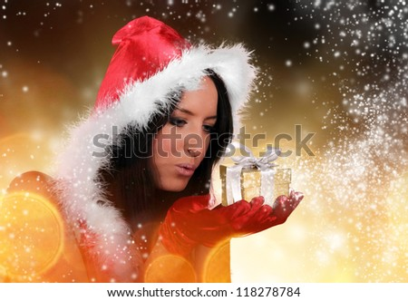 Beautiful santa girl
