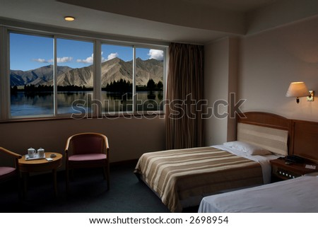 Beautiful scene near the bedroom. - stock photo