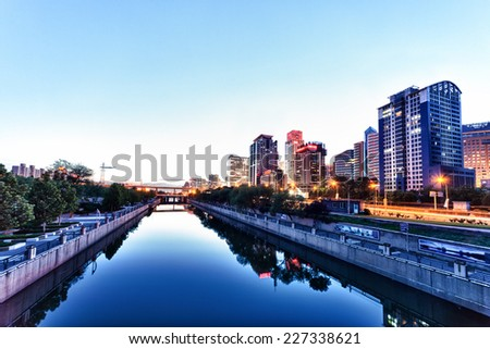 Beautiful Scene of Beijing. Outdoors shot - stock photo