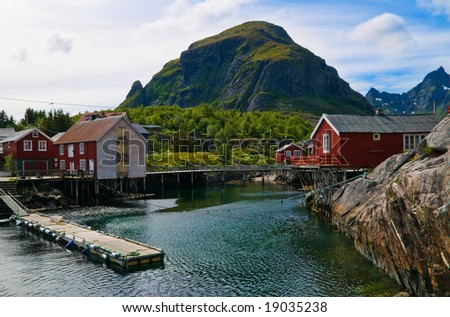beautiful scenery from the north of Norway - stock photo