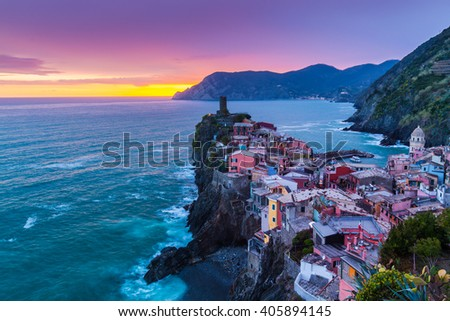Beautiful scenery in Cinque Terre, Italy