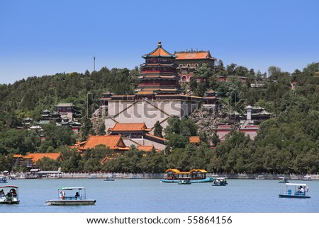 Beautiful scenery in the Summer Palace, Beijing, China. - stock photo