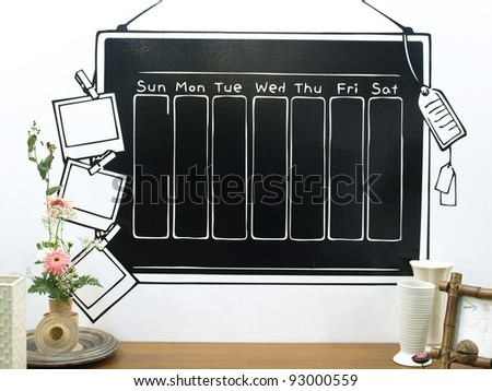 Beautiful schedule. - stock photo