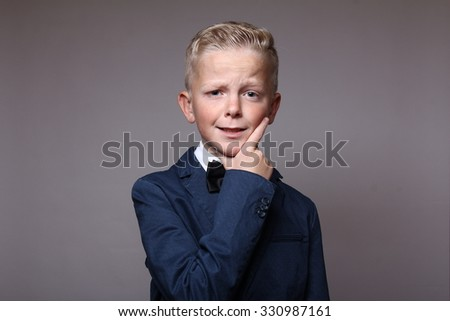 Beautiful schoolboy - stock photo