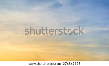 Beautiful screen of sunset sky. - stock photo