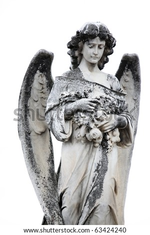 Beautiful Sculpture at a Melbourne Cemetery - stock photo