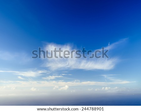 Beautiful sea and clouds sky in Ireland - stock photo