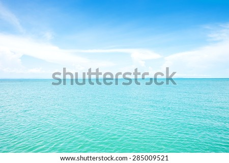 Beautiful Sea and sky on daytime for background - stock photo