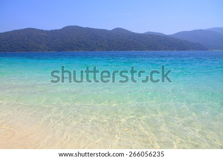 Beautiful sea at tropical island, Koh Lipe, Andaman Sea, Thailand - stock photo
