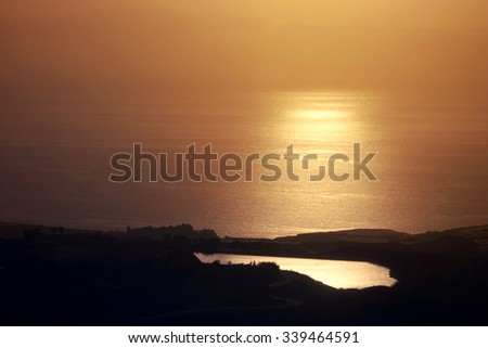 Beautiful sea in the evening. Tenerife, Canary islands, Spain