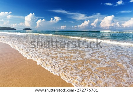 Beautiful sea. Karon beach, Phuket, Thailand. Asia - stock photo