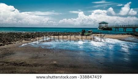 Beautiful sea landscape, Malaysia,island - stock photo
