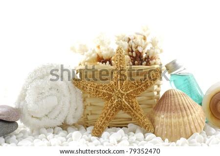 beautiful sea spa background. - stock photo