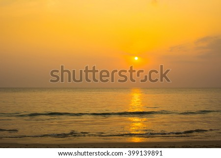 beautiful sea sunset evening atmosphere