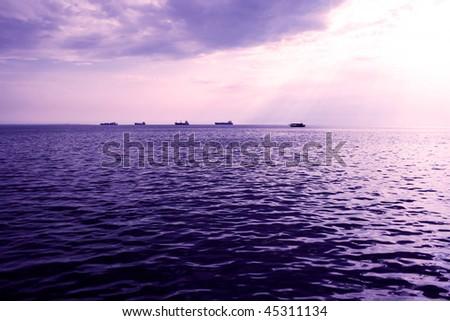 Beautiful sea view - stock photo
