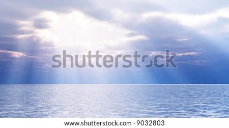 Beautiful seascape - stock photo