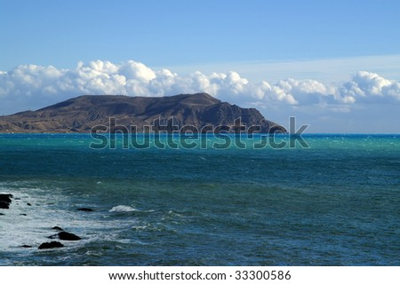 Beautiful seascape. Black Sea. Crimea.
