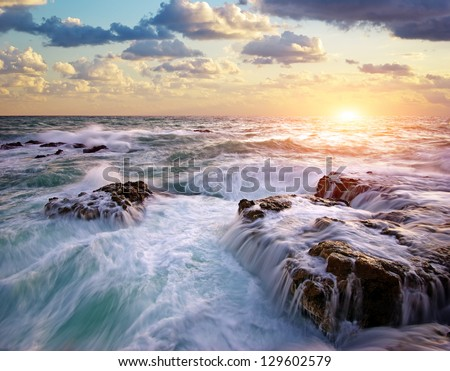 Beautiful seascape.Composition of nature. - stock photo