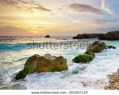 Beautiful seascape. Composition of nature.