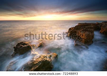 Beautiful seascape. Composition of nature. - stock photo