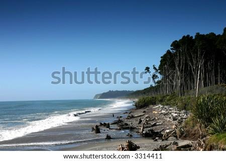 Beautiful seascape from new Zealand - stock photo