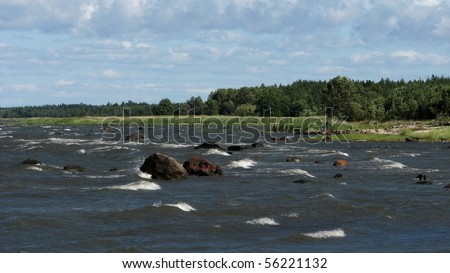 Beautiful seascape; island of Hiiumaa, Estonia - stock photo