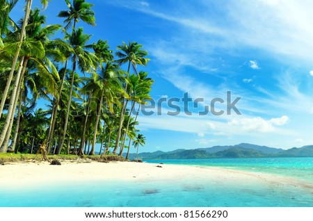 Beautiful seascape. Sky and sea. - stock photo