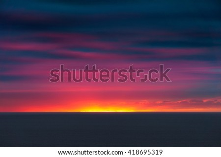 beautiful seascape with sunset colors