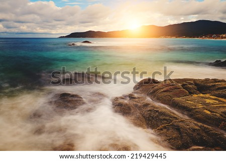 Beautiful seashore - stock photo