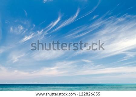 Beautiful seaview - stock photo
