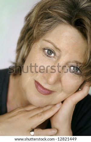 Beautiful senior lady portrait - stock photo