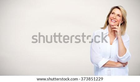 Beautiful senior woman portrait. - stock photo