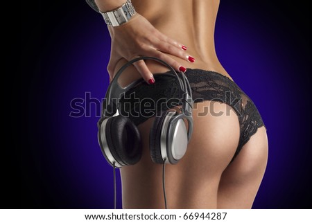 beautiful sexy ass - stock photo