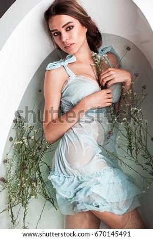 Sexy girl bath