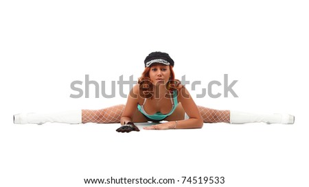 beautiful sexy girl isolated on white background
