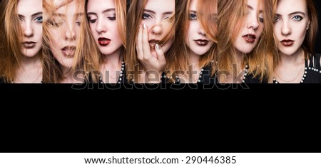 beautiful sexy girl with her hair. Beauty - fashion  - stock photo
