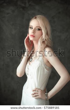 Female In Lingerie Near Window Stock Photo - Image: 42574463