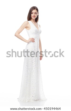 Beautiful sexy woman brunette hair perfect stock photo for Full body wedding dress