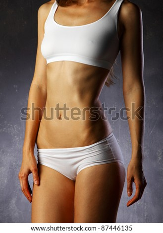 beautiful sexy woman's body - stock photo