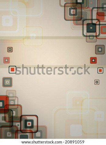 beautiful shapes in a retro looking background - stock photo