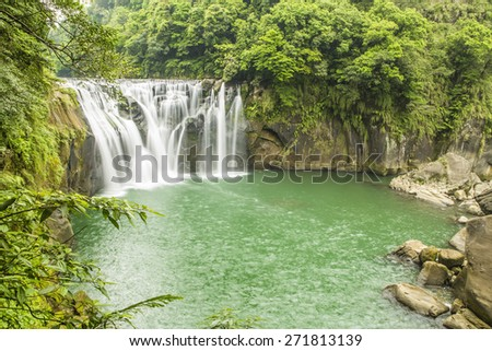 Beautiful Shifen waterfall, Pingxi,Taipei. Taiwan