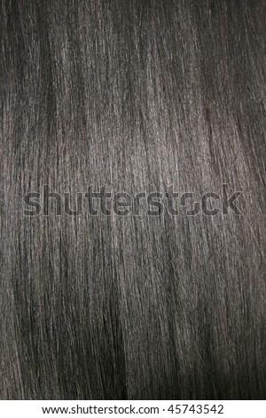 Beautiful shiny black hair, texture, background - stock photo
