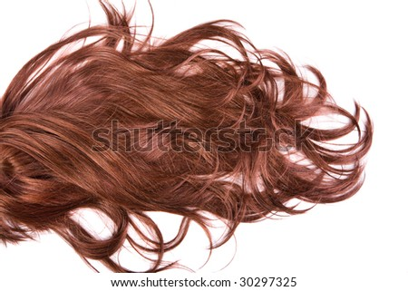 beautiful shiny healthy hair texture - stock photo