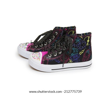 Beautiful shoes, isolated on white  - stock photo