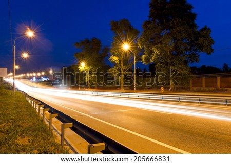 beautiful shooting moving cars at night